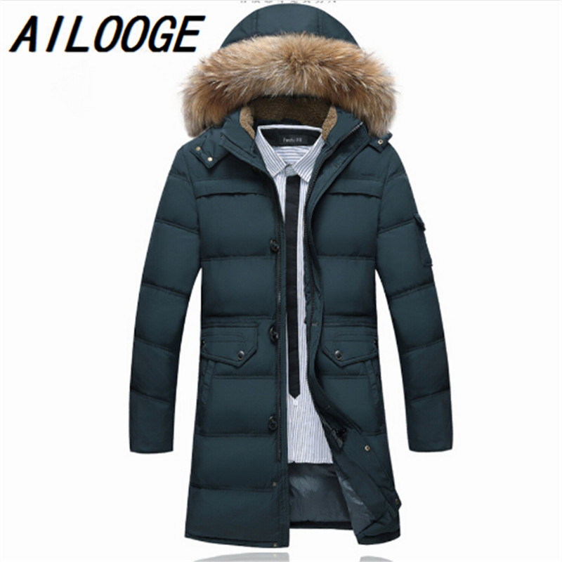 New Arrival 4 Color 2016 Fashion Long Winter Down Jacket Coat Slim Fit Warm Windcheater Parkas Hooded Coat Wadded Jackets