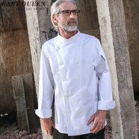 Wholesale chef jacket double breasted sushi chef uniform food service restaurant hotel chef uniform XXL KK1563 HQ