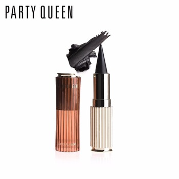 12PCS/LOT Party Queen Eye Enhancing Black Kajal Eyeliner Stick Solid Thick Eyeliner Gel Makeup Smooth Waterproof Smoky EyeLiner