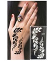 20pcs/Lot Henna Tattoo Stencils New Design Flower Butterfly tattoo Templates Airbrush Stencils For Painting 60 Styles