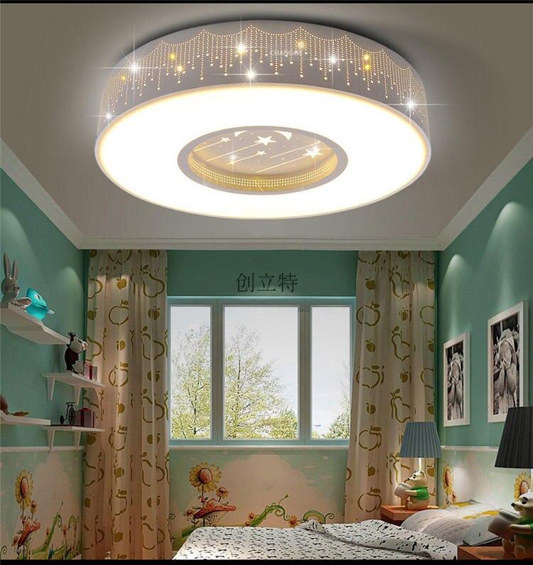 Children Room Star LED Ceiling Lamps Round Ceiling Led Boy Girl - Girls bedroom light fixture