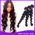 6a peruano cabelo virgem onda solta extensões natural preto 3 cabelo virgem peruano closures cabelo onda tecer