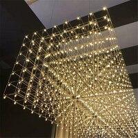 Свет из нержавеющей стали Art светодиодный подвесные светильники Звездное небо светодиодный Подвеска Свет выставочный зал инженерно подвес
