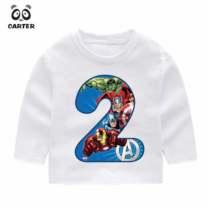 2 14 Year OldKids Happy Birthday Avengers Marvel Number 19th Long