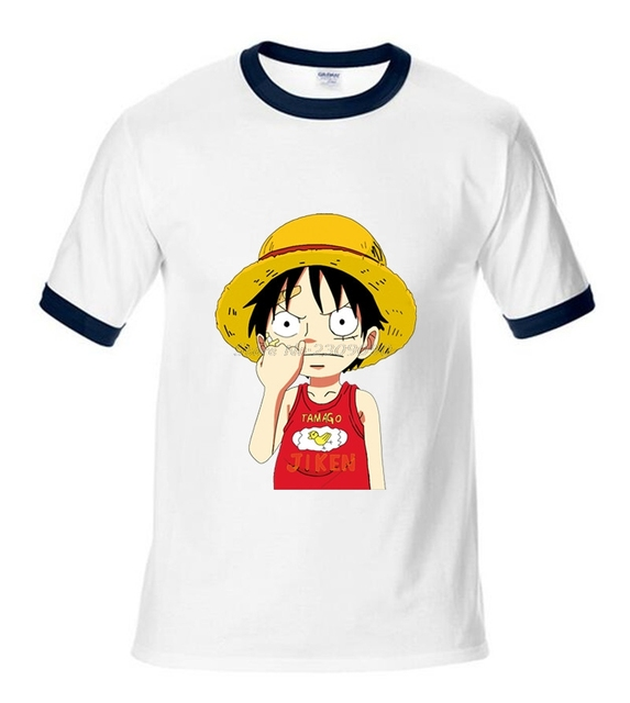 One Piece T Shirt Luffy Cotton Raglan Sleeve Clothes Men ...