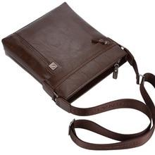 Leather business travel messenger bag