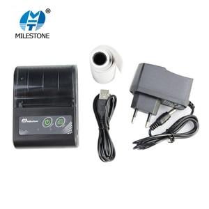 Image 3 - Milestone Bluetooth Printer Wireless Receipt bill Thermal Printer 58MM Mini Portable pocket for Windows Android IOS MHT P10