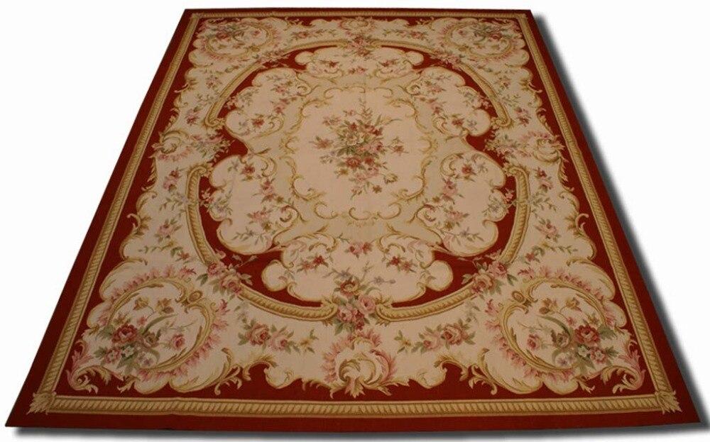 Livraison gratuite 9'x12' Aubusson tapis en laine français Aubusson tapis 2016New design