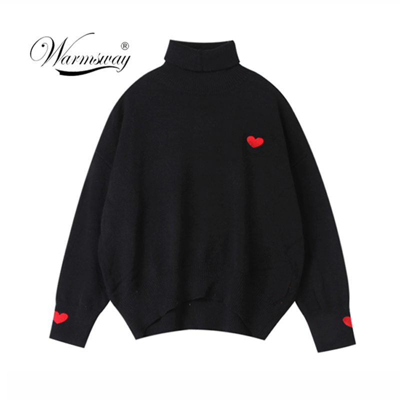 Turtleneck Thick Warm Women Autumn Winter Pullover Sweater Knitted Soft Jumper Long Sleeves Sweater Femme Top  C-032