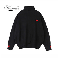 Turtleneck Thick Warm Women Autumn Winter Pullover Sweater Knitted Soft Jumper Long Sleeves Sweater Femme Top C 032
