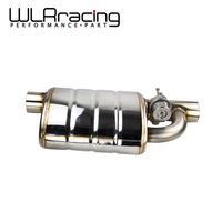 Stainless Steel 2.5 or 3 Slant Outlet Tip Inlet Weld On Single Exhaust Muffler with different sounds/Dump Valve Exhaust Cutout