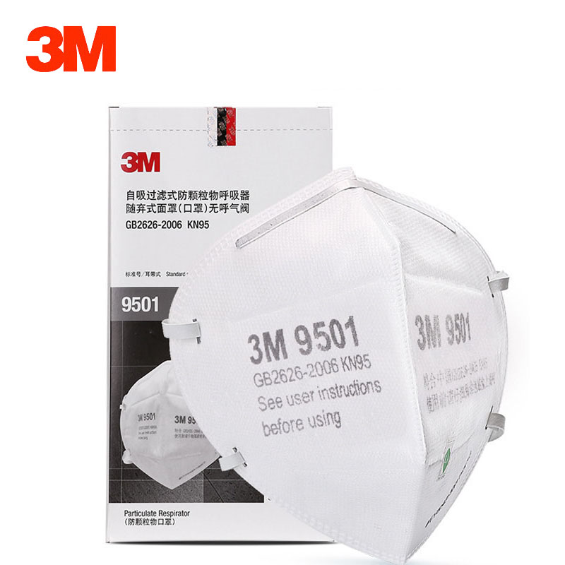 3M 9501 9502 Dust Mask KN95 Particulate Respirator Anti-fog PM2.5 Anti influenza Safety Breathing Dust-proof Adult Unisex Masks