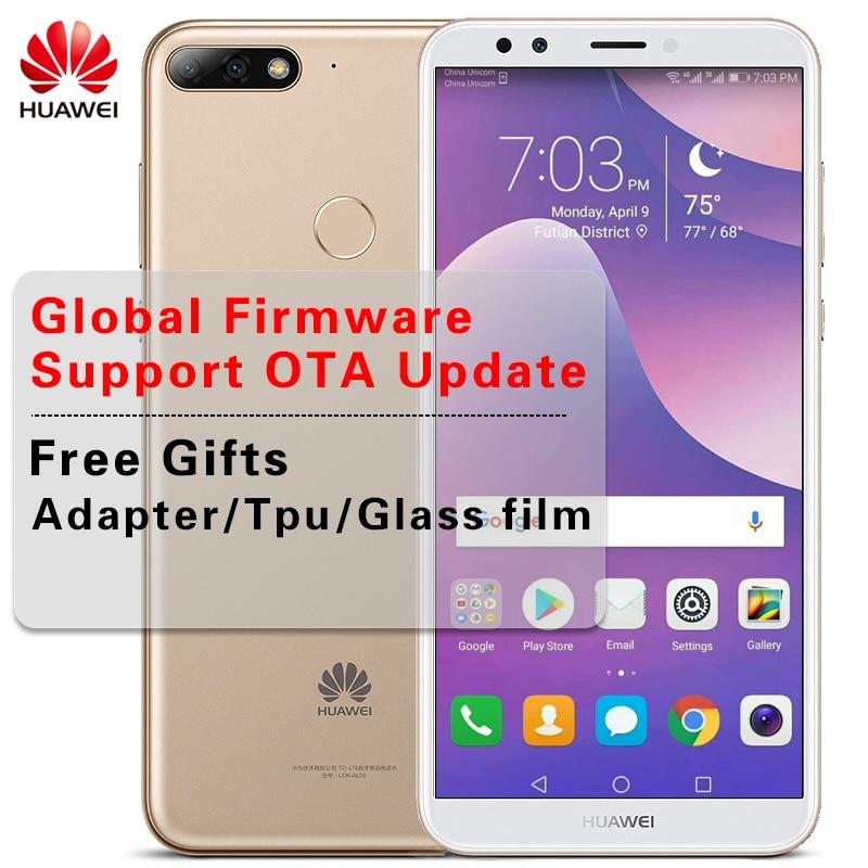 "Global ROM 5,99 ""huawei Y7 Prime 2018 двойной сзади Камера Android 8,0 Octa Core мобильный телефон Snapdragon 430 3 ГБ /4 ГБ Оперативная память 32 ГБ/64 ГБ"
