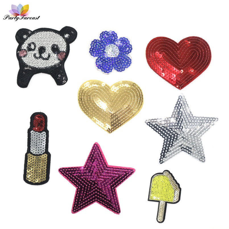 PF Mixture Sell Sequin patches Stripes Thermo-stickers Applique Embroidery Patch For Clothing DIY Application Aaccessory RH007 iphone xr case magnetic