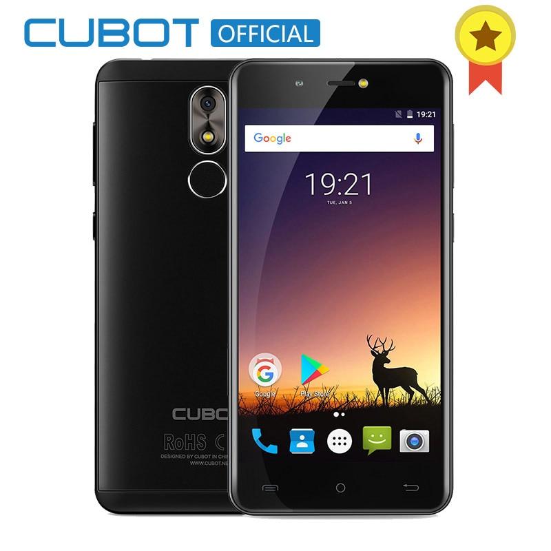 Cubot R9 Quad Core MT6580 Android 7.0 di Impronte Digitali 2 gb di RAM 16 gb di ROM Per Smartphone 5.0 pollice 1280x720 schermo HD 13.0MP Fotocamera Celular