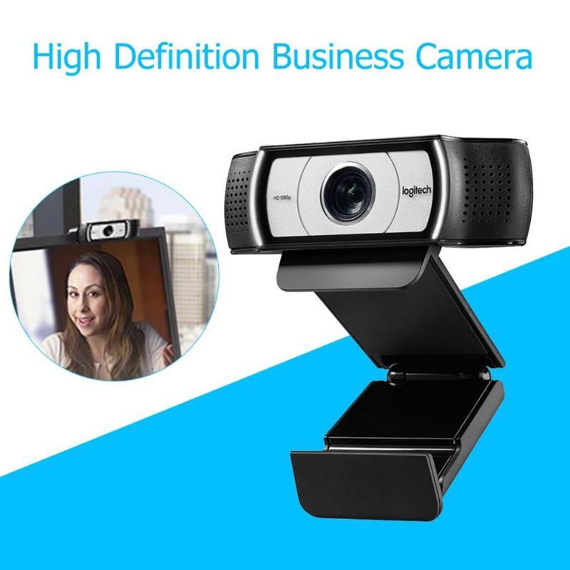 Webcam originale Logitech C930e HD Smart 1080P avec couvercle caméra logicielle de conférence multi-plateforme Zoom numérique 4 temps caméra Web