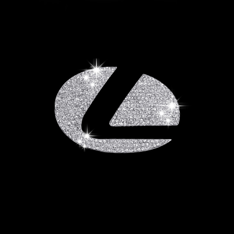 Car Styling Accessories For Lexus Es Es200 Es300 Nx Nx200 Car Steering Wheel Logo Emblem Zinc Alloy Diamond Decoration Stickers
