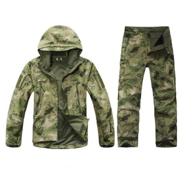 Тактический tad Gear Акула Softshell Кожи вентиляторы Армии Тактика Военная куртка набор Водонепроницаемый Камуфляж Толстовка Clothing Suit