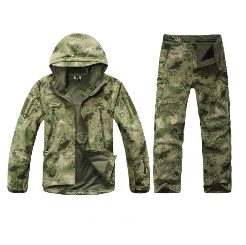 Tactical Gear Shark tad Skin Softshell Army fans Tactics Military fleece Jacket set Waterproof Camouflage font