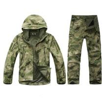 Tactical Gear Shark tad Skin Softshell Army fans Tactics Military fleece Jacket set Waterproof Camouflage Hoody Clothing Suit