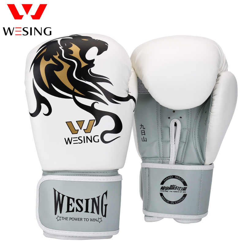 28b3428a0 Wesing Men Boxing Gloves Training Kickboxing Punch Mitts Women Boxing Gloves  for Boxer Luva De Boxe