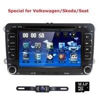 Camera+for VW Golf 5 6 MK5 Passat CC EOS Car DVD Player Radio GPS Navi BT Stereo 2 Din Car DVD Navigation for Volkswagen BT SWC