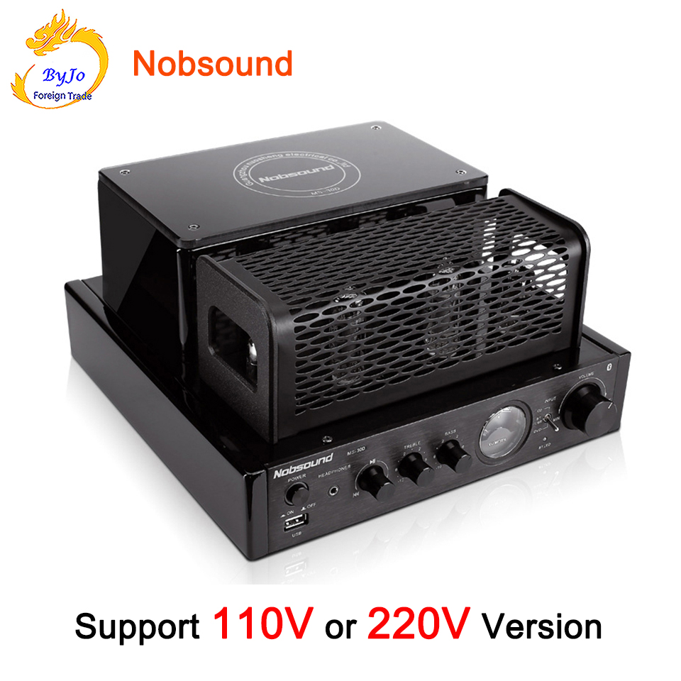 Nobsound MS-30D and MS-30D MKII Bluetooth amplifier tube Amplifier audio 110V 220V amplifier Power amplifier MS-10D MKII upgrade upgraded new black ms 10d mkii hifi 2 0 tube amplifier usb bluetooth 4 0 amplifier 100w stereo audio amplifier