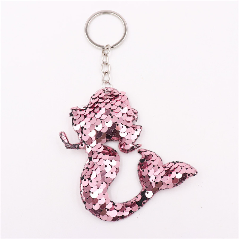 Sitaicery Chaveiro Mermaid Keychains Charms Keys Pendants Sequins Keyring Gift Jewelry Accessories Trinket Keychains For Women in Key Chains from Jewelry Accessories