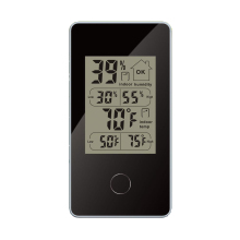 Mini Wireless Weather Station Indoor Digital Thermometer Hygrometer Black Max/Min Data Records of Temperature/humidity