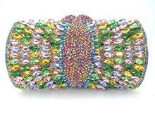 Multicolor Luxury Diamond Clutch Bag rhinestone Evening Purse Party Pochette Lady Feast Banquet Bag Women Wedding HandBag 88590