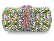 Multicolor Luxus Diamant Handtasche strass Abend Geldbörse Party Pochette Dame Fest Bankett Tasche Frauen Hochzeit Handtasche 88590