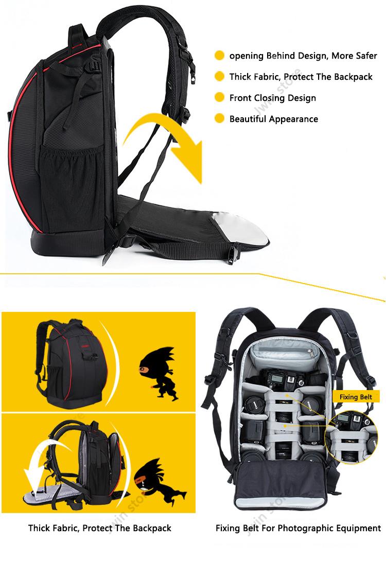 CADeN Professional Travel Waterproof Fashion Camera Backpack Photo tas Digital Camera Bag Case for Dslr Sony Canon Nikon K6K7 3