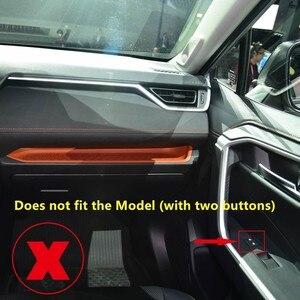 Image 2 - فقط ل اليد اليسرى محرك! صالح لتويوتا RAV4 XA50 2019 2020 اكسسوارات السيارات الداخلية الباب نافذة رفع منظم غطاء تقليم