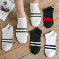 5Pair Summer Style Hot Sale Men's Short Boat Socks Brand High Quality Polyester Breathable Socks Wholesale