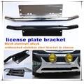 1PC black aluminum chrome steel bull bar front bumper lisence plate mount bracket holder for led work lamps led light bar