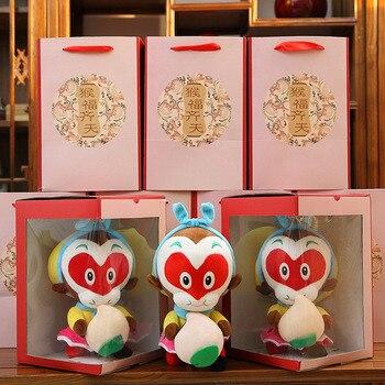 Бесплатная Доставка Подарок для детей Рождественский Подарок С Коробкой Китай Миф Король Обезьян плюшевые куклы Новинка Животных Мягкую Игрушку