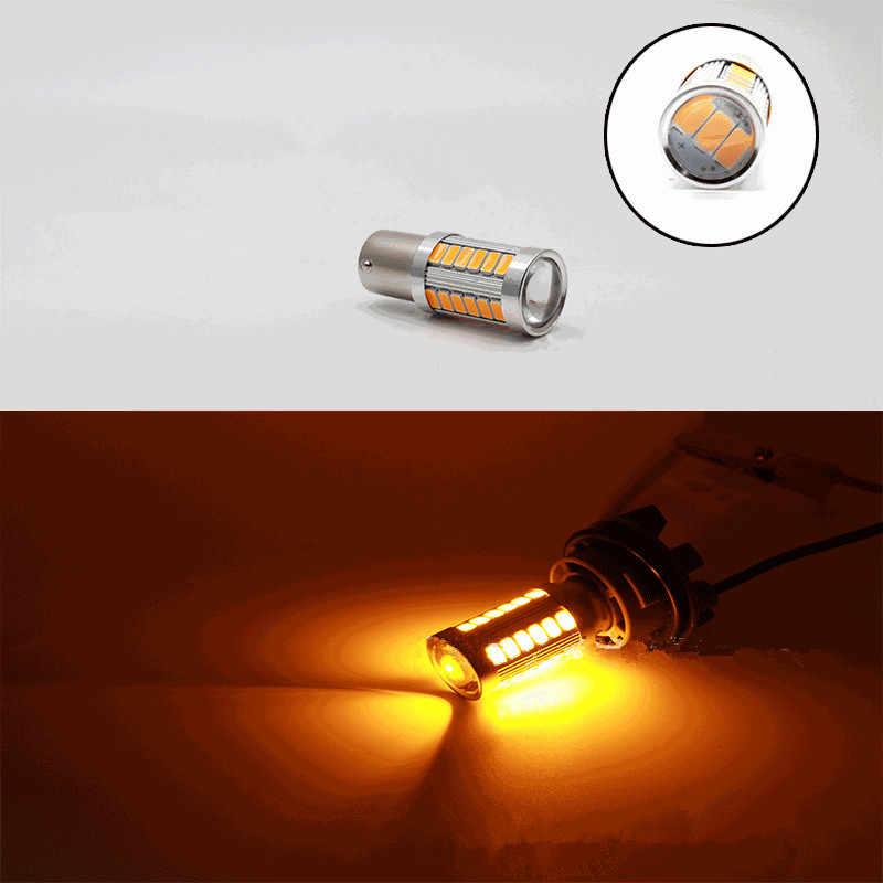 1 adet 1156 P21W BA15S 33 SMD 5630 5730 LED Araba Yedekleme Rezerv Işık Motor Fren Ampul Gündüz Çalışan Işık beyaz Kırmızı Turuncu Amber