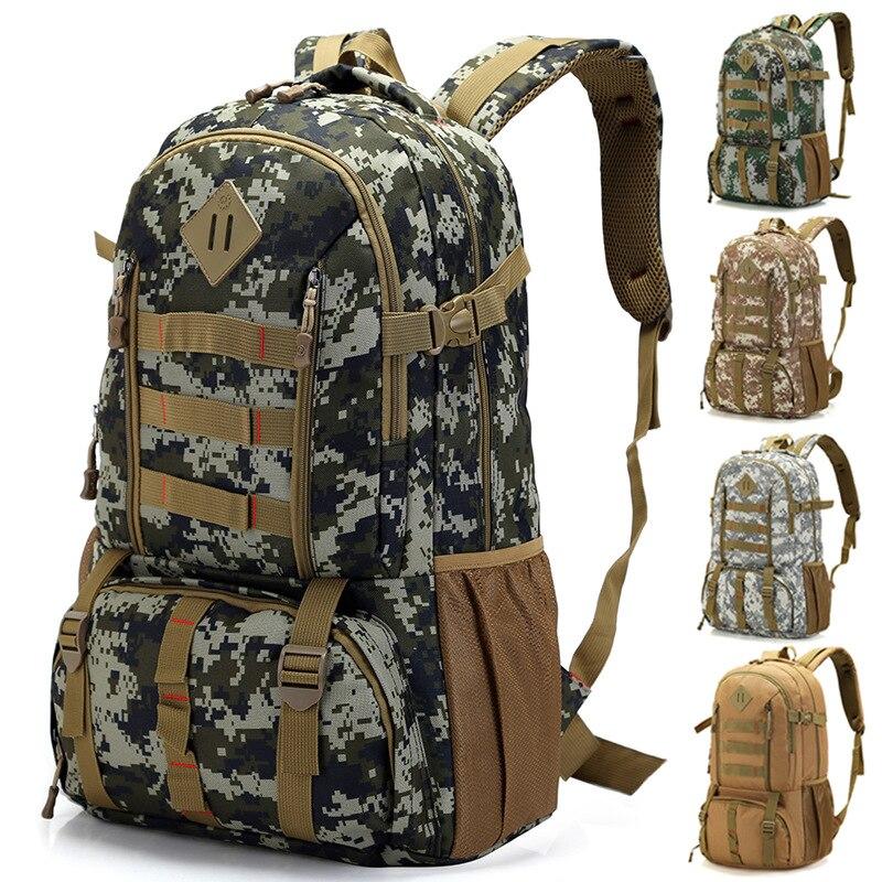 50L Camouflage Military Army <font><b>Bag</b></font> Men sports Waterproof Nylon <font><b>outdoor</b></font> travel large <font><b>bag</b></font>