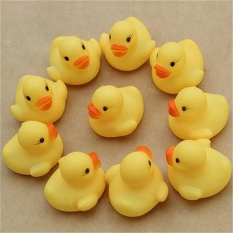 6pcs/lot Cute Baby Kids Squeaky Rubber Ducks Bath Toys Bathe Room Water Fun Game Playing Newborn Boys Girls Toys For Children
