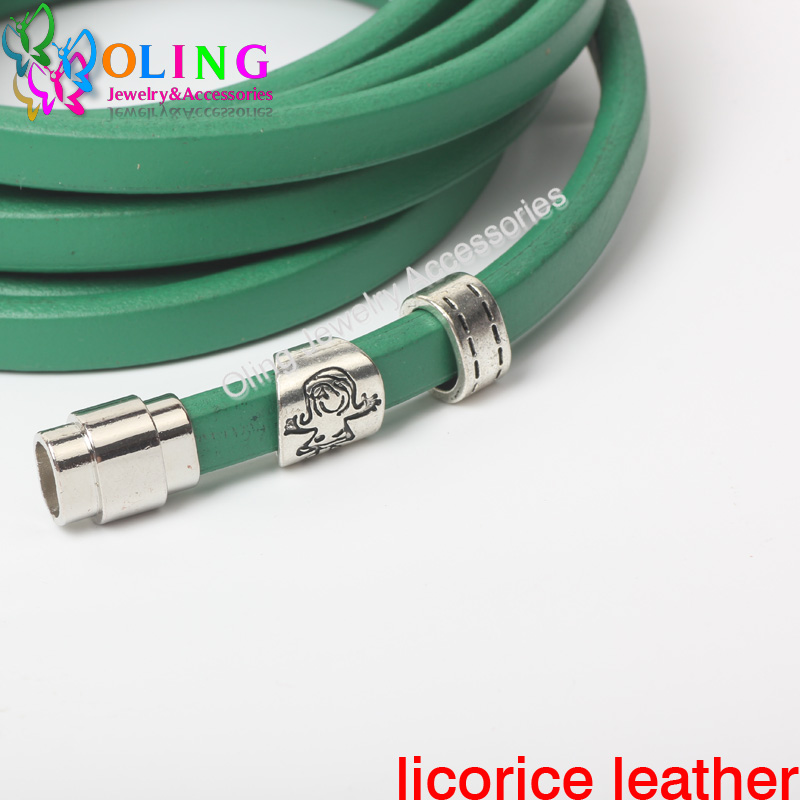1Yard Multicolor 10*6mm Real Licorice Leather Cords For European Popular Leather Bracelet Jewelry Making  Free Shipping