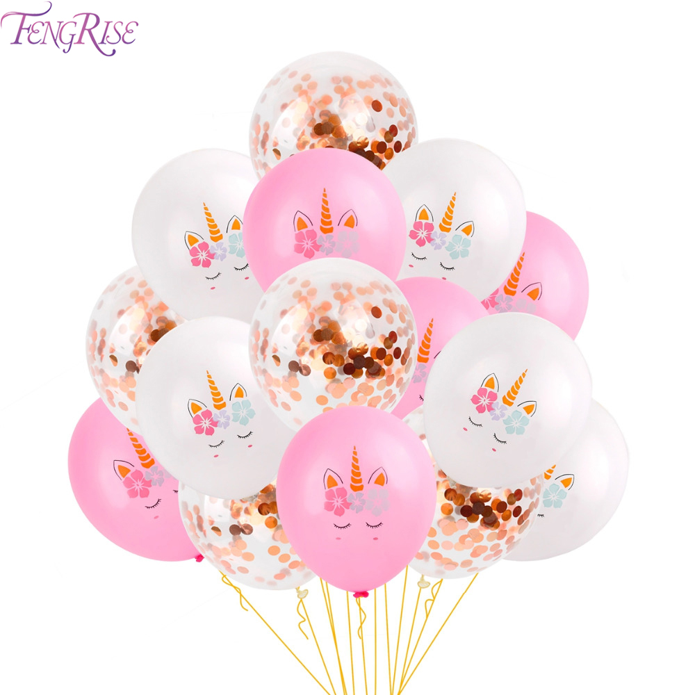 FENGRISE Unicorn Birthday Party Decor Supplies Boy Girl Baby Shower Unicornio