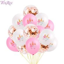 FENGRISE Unicorn Birthday Party Decor Supplies Boy Girl Baby Shower Unicornio