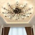 Современная заподлицо дома золотистый и черный светодиодный K9 Хрустальная люстра свет приспособление для Гостиная Спальня Кухонные свети...
