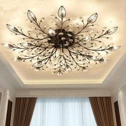 Nowoczesne podtynkowe do domu złote czarne LED K9 kryształowy sufit żyrandol oprawa do salonu sypialnia lampy kuchenne
