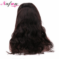 NAFUN Hair Body Wave Lace Front Human Hair Wigs Indian Hair 10 22 Natural Color Non Remy Free Shipping No Smell No Shedding