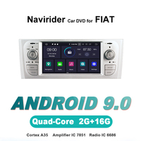 Navirider OS 9.0 Car Android Player For FIAT PUNTO Linea 2007 silver HU radio gps navigation BT TDA7851 Amplifier sound System