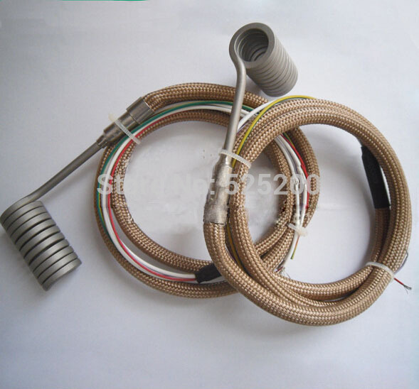 DHL free shipping 10pcs Electric Hot runner coil heater with thermocouple  dhl 10pcs 100