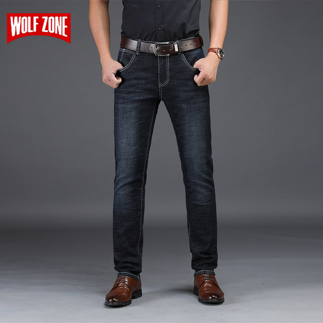 eadbf08bc680 Модные Стрейчевые джинсы мужские известный бренд осень зима обтягивающие ...