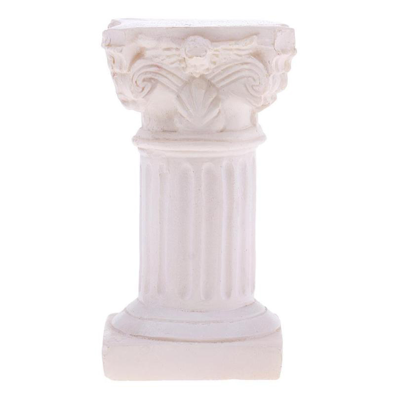 For Garden Diorama Yard Accessory Resin Roman Column Pillar Model Miniature