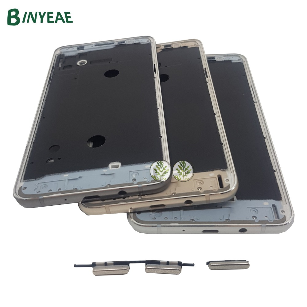 BINYEAE Middle Frame Bezel Chassis Housing For Samsung Galaxy J7 2016 SM-J710FN J710 J710F ...